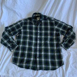 Men's LL Bean Long Sleeve Flannel Great Condition!